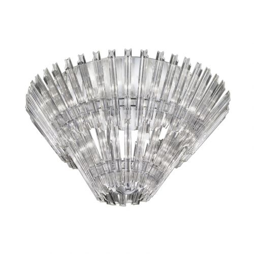Flush Ceiling 12 Light Fitting Crystal Glass Rods Flair LEK61333
