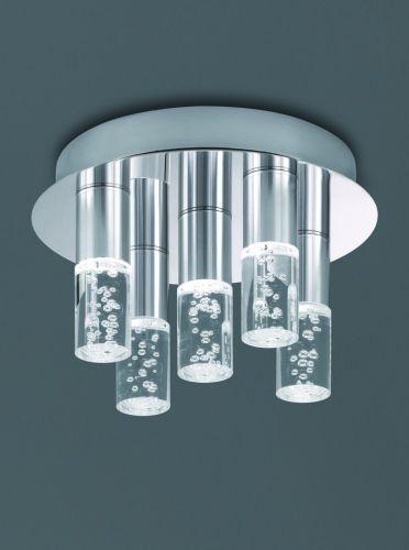 LED Bathroom Flush Ceiling Fitting Polished Chrome LEK60080