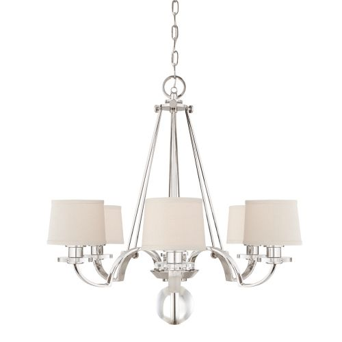 Quoizel Sutton Place Antique Silver Chandelier Light QZ/SUTTON PL6