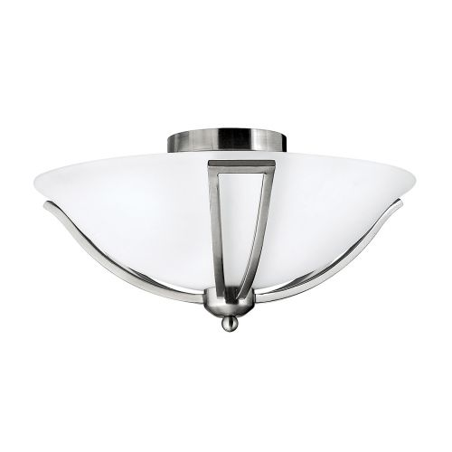 Hinkley Bolla Brushed Nickel Flush Ceiling Light HK/BOLLA/F