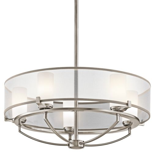 Kichler Saldana 5 Light Ceiling Light Pewter Finish KL/SALDANA5