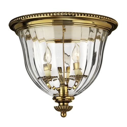 Hinkley Cambridge 3 Light Burnished Brass Flush Mount HK/CAMBRIDGE/F/B