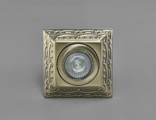 Diyas IL30847AB Aspen Vintage Design Recessed Downlight Square GU10 Antique Brass