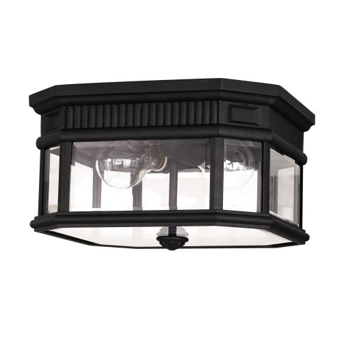 Feiss Cotswold Lane Flush Ceiling Mount FE/COTSLN/F BK Black Die-Cast Aluminium