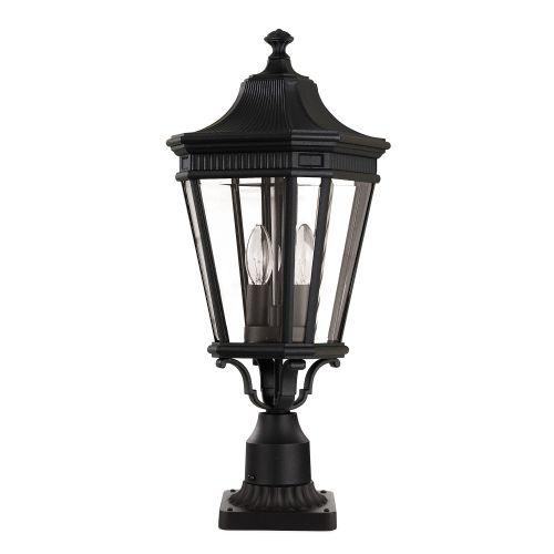 Feiss Cotswold Lane Medium Pedestal Lantern FE/COTSLN3/M BK Black Die-Cast Aluminium