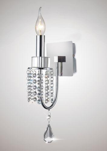 Diyas IL31540 Crystal Single Wall Lamp Polished Chrome Frame
