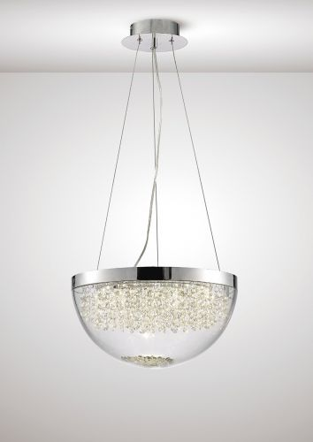 Diyas IL80012 Harper Large Ceiling Pendant 21W 1600lm LED 4000K Polished Chrome Crystal