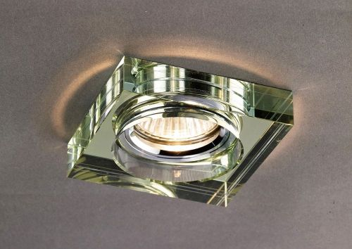 Diyas IL30822WI Crystal Recessed Downlight Deep Square Rim Only White Wine