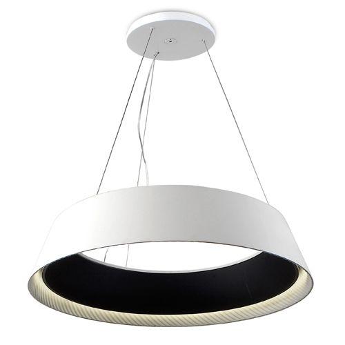 Grok 00-0053-05-BW Ringofire White and Black 1 Lt LED Small Pendant