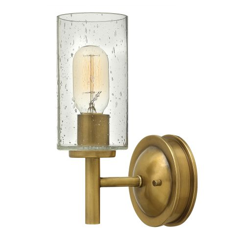 Hinkley Collier 1 Light Heritage Brass Wall Light HK/COLLIER1