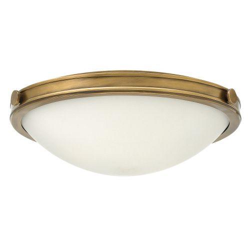 Hinkley Collier 3 Light Heritage Brass Flush HK/COLLIER/F/M