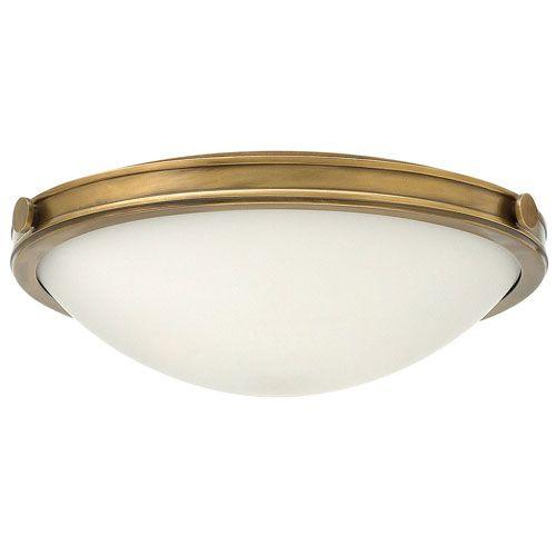 Hinkley Collier 2 Light Heritage Brass Flush HK/COLLIER/F/S