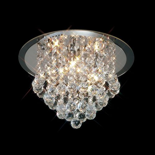 Diyas IL30008 Atla Flush Ceiling 4 Light Polished Chrome/Acrylic Trim/Crystal