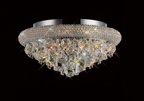 Diyas Alexandra Ceiling 6 Light Polished Chrome/ Crystal IL31445