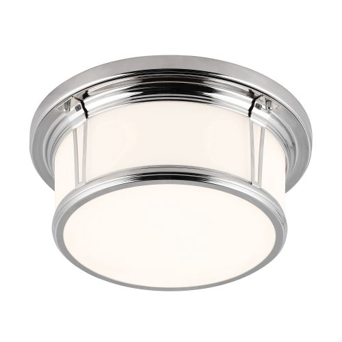 Feiss FE/WOODWARD/F/M 1Lt Polished Chrome Bathroom Ceiling Flush