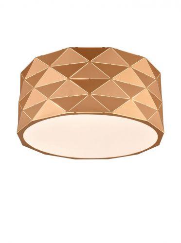 Flush Ceiling Fitting 4 Light Rose Gold Osculate LEK60082