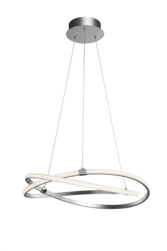 Mantra M5381 Infinity 1Lt LED Silver Pendant Ceiling Light