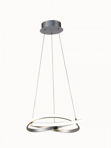 Mantra M5384 Infinity 1Lt LED Polished Chrome Pendant Ceiling Light