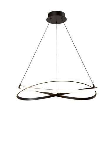 Mantra M5390 Infinity 1Lt LED Brown Oxide Small Pendant Ceiling Light