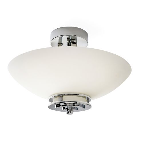 Kichler KL/HENDRIK/SF 3Lt LED Polished Chrome Semi Flush Ceiling Light