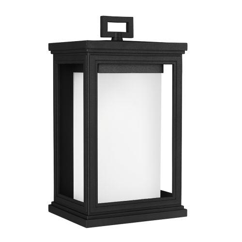 Feiss FE/ROSCOE/M Roscoe 1Lt Textured Black Lantern Outdoor Wall Light