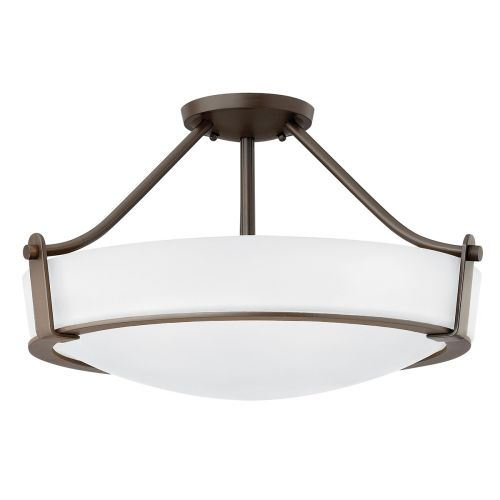 Hinkley HK/HATHAWAY/SFMB Hathaway 4Lt Old Bronze Semi Flush Ceiling Light