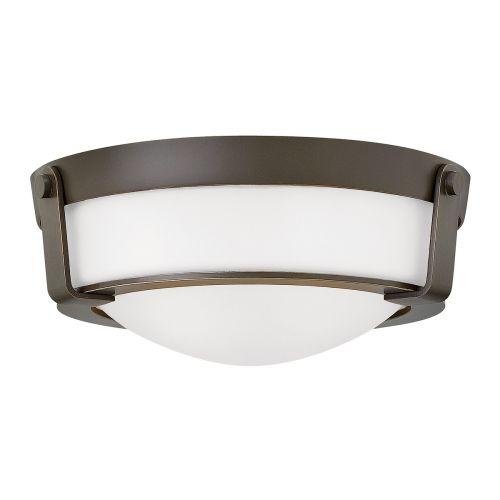 Hinkley HK/HATHAWAY/F/SB Hathaway 2Lt Old Bronze Flush Ceiling Light
