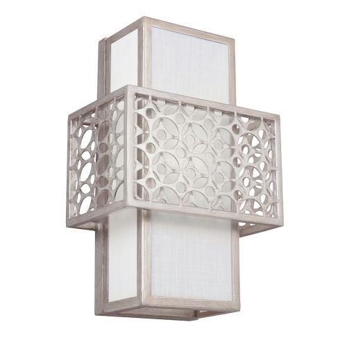 Feiss FE/KENNEY1 Kenney 1Lt Sunrise Silver Wall Light