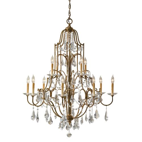 Feiss FE/VALENTINA12 Valentina 12Lt Oxidised Bronze Multi-Tier Chandelier