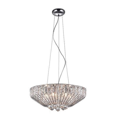 Impex Carlo CFH508052/06/CH 6 Light Pendant Polished Chrome Ceiling Fitting