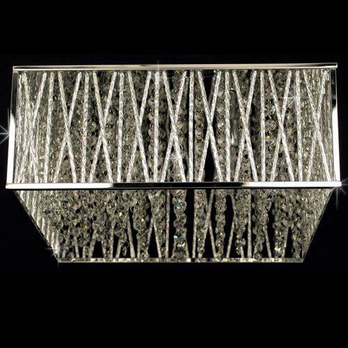 Impex CFH310221/04/PL/CH Melenki 4Lt Polished Chrome Crystal Flush Ceiling Light