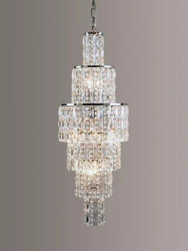 Impex CF03220/06/CH New York 6Lt Polished Chrome Ceiling Chandelier