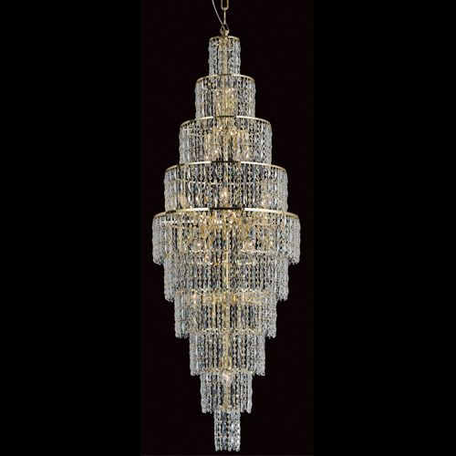 Impex CF03220/24/G New York 24Lt Gold Long Crystal Chandelier