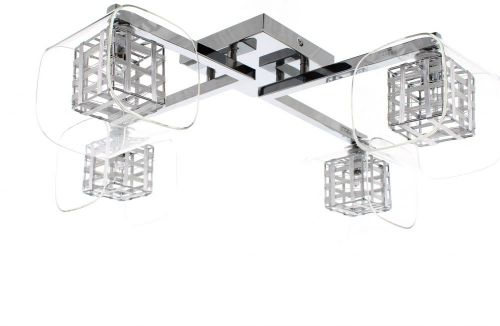Impex Avignon PGH01515/04/PL/CH 4 Light Ceiling Flush Chrome Fitting