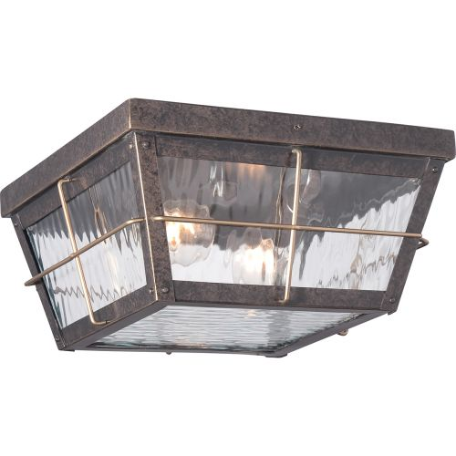 Quoizel QZ/CORTLAND/F Cortland 2Lt Imperial Bronze Outdoor Ceiling Flush