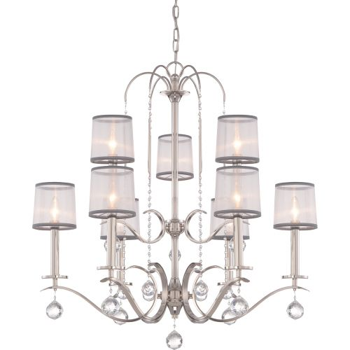 Quoizel QZ/WHITNEY9 Whitney 9Lt Imperial Silver Ceiling Chandelier