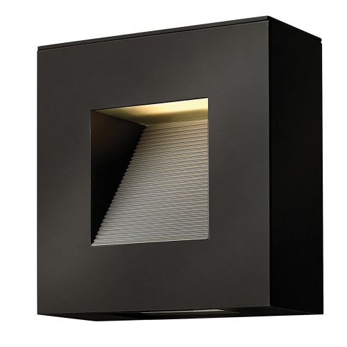 Hinkley HK/LUNA/S SK Luna 2Lt LED Satin Black Outdoor Wall Light