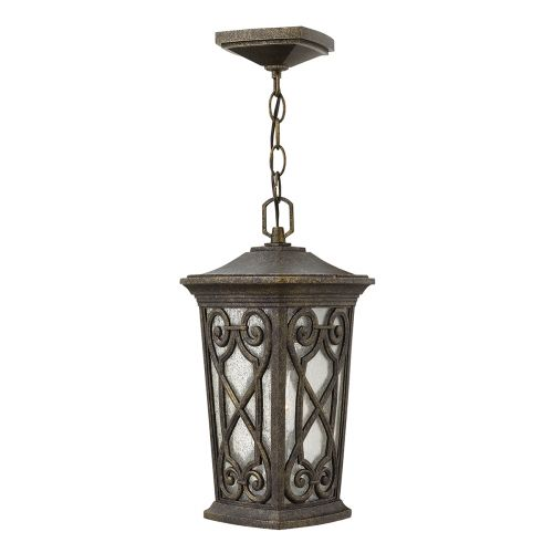 Hinkley HK/ENZO8/S Enzo 1Lt Autumn Leaded Outdoor Lantern Die Cast Aluminium