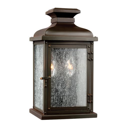 Feiss FE/PEDIMENT/S Pediment 2Lt Dark Aged Copper Outdoor Wall Lantern