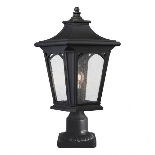 Quoizel QZ/BEDFORD3/M Bedford 1Lt Mystic Black Outdoor Pedestal Lantern
