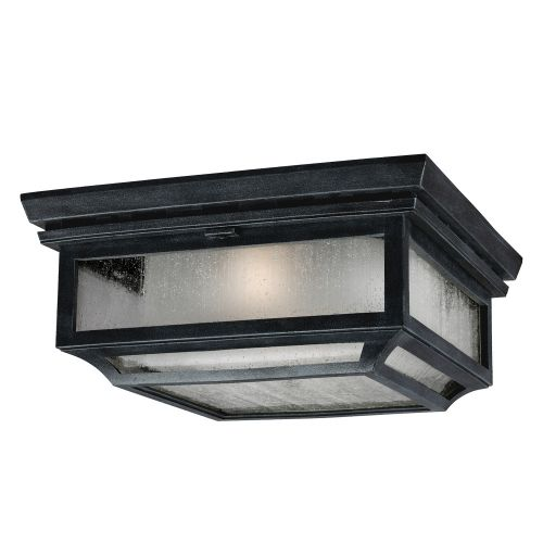 Feiss FE/SHEPHERD/F Shepherd 2Lt Dark Weathered Zinc Outdoor Flush Ceiling Light