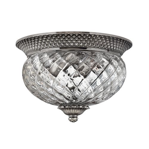 Hinkley HK/PLANT/F/S PL Plantation 2Lt Antique Nickel Flush Ceiling Light