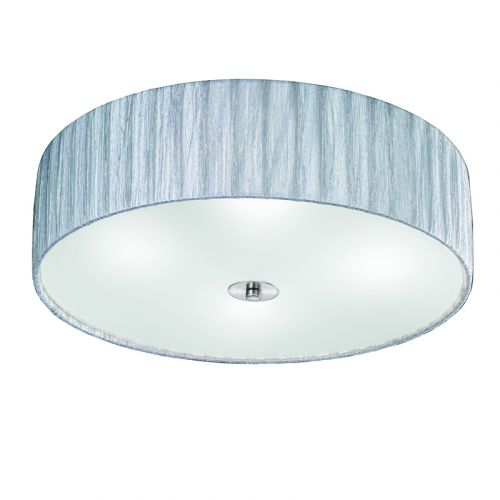 Silver Flush Ceiling Fitting 4 Light Shade Apulia LEK61521