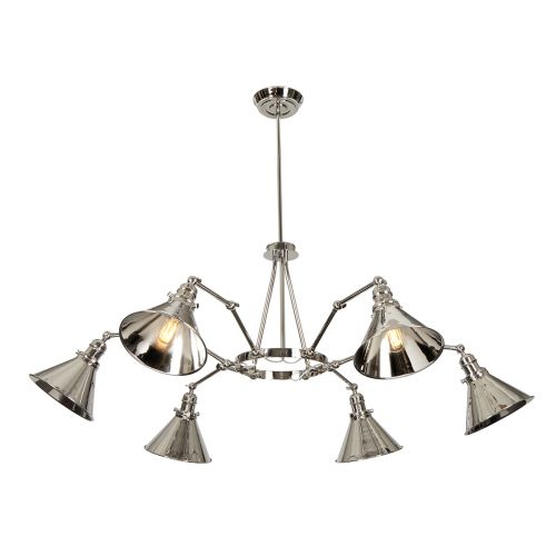Elstead PV6 PN Provence 6Lt Polished Nickel Multi-Arm Pendant