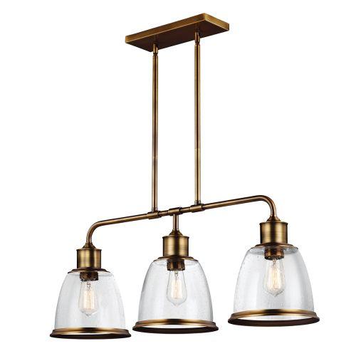 Feiss FE/HOBSON/3P AB Hobson 3Lt Aged Brass Ceiling Pendant