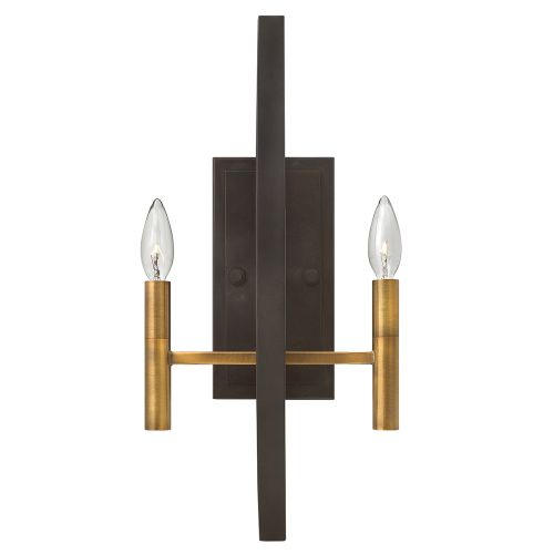 Hinkley HK/EUCLID2 Euclid 2Lt Spanish Bronze Wall Light