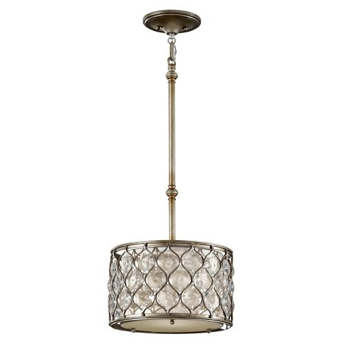 Feiss FE/LUCIA/P/C Lucia 1Lt Burnished Silver Ceiling Pendant