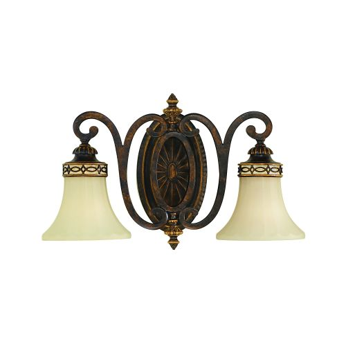 Feiss FE/DRAWINGRM2/B Drawing Room 2Lt Walnut Wall Light