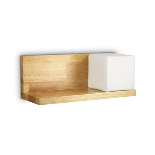 Ideal Lux 180090 Toledo 1Lt Wood Shelf Wall Light
