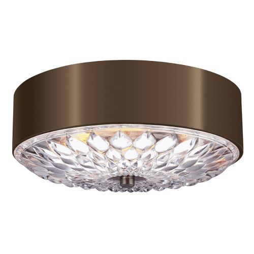Feiss FE/BOTANIC/F/M Botanic 3Lt Dark Aged Brass Ceiling Flush